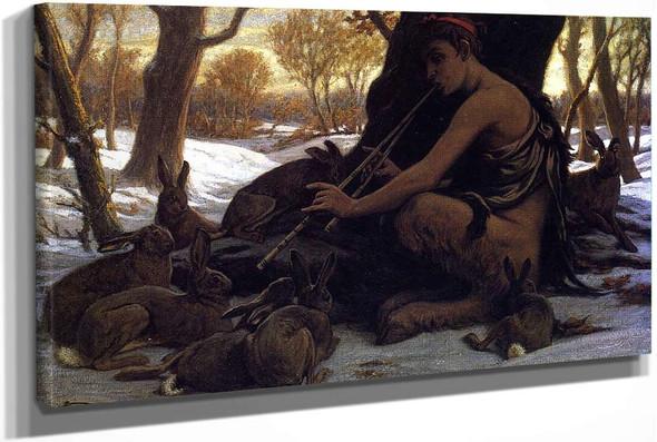 Marsyas Enchanting The Hares by Elihu Vedder