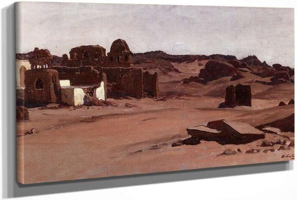 Modern Tombs Aswan Egypt by Elihu Vedder