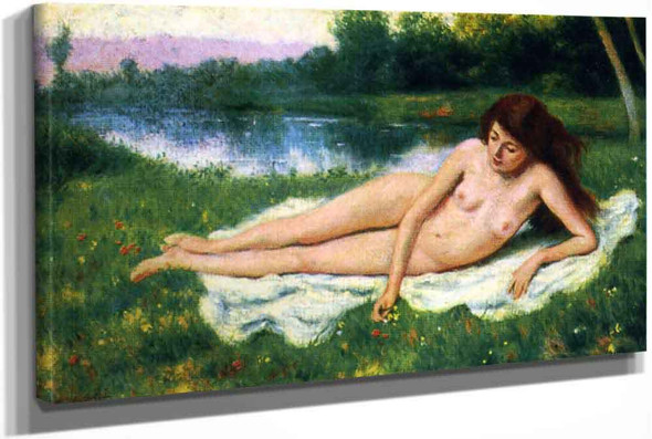 Nude Outdoors (Also Known As Nude Woman On The Lawn) by Federico Zandomeneghi