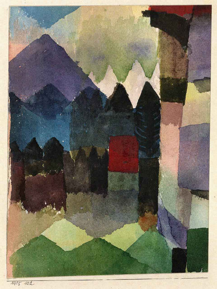 Fohn In Marc's Garden By Paul Klee