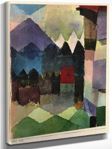 Fohn In Marc's Garden By Paul Klee Art Reproduction