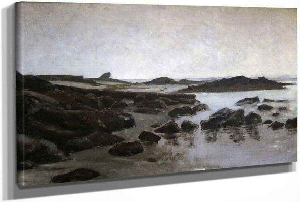 Seashore At Audresselles by Charles Auguste Emile Durand