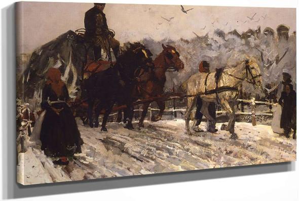 Sleperspaarden In De Sneeuw by George Hendrik Breitner