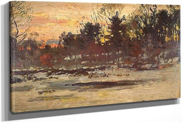 Snowy Landscape by John Joseph Enneking