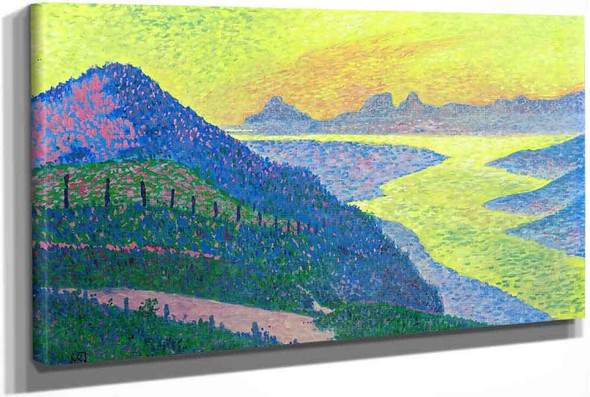 Sunset At Ambleteuse by Theo Van Rysselberghe