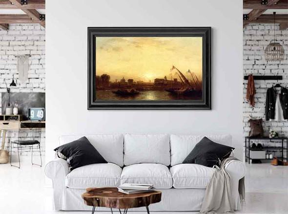 Sunset Seville by Samuel Colman