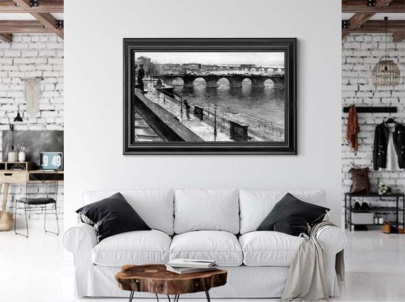 The Augustus Bridge In Dresden (Also Known As Die Augustbrücke In Dresden) by Gotthardt Kuehl