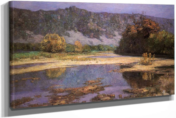 The Muscatatuck (Also Known As Afternoon At The Ford) by Theodore Clement Steele