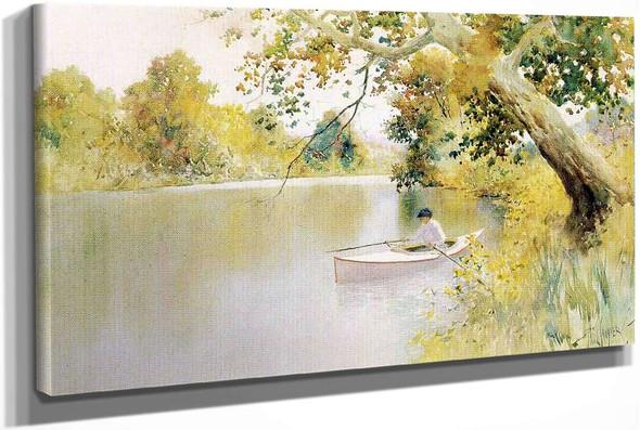 The North Elkhorn Mill Pond by Paul Sawyier
