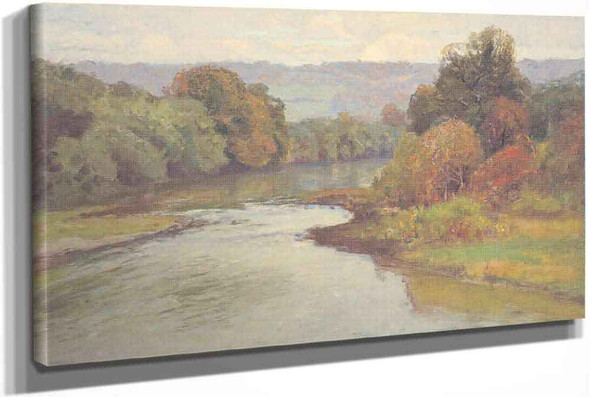 The River by Theodore Clement Steele