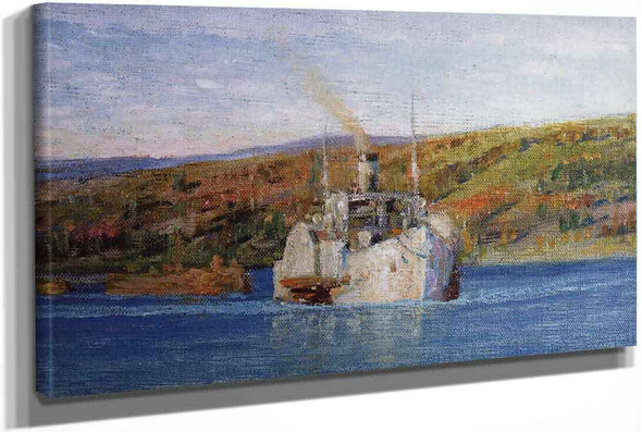The Vladimir Steamship On The Oka River by Vasily Polenov