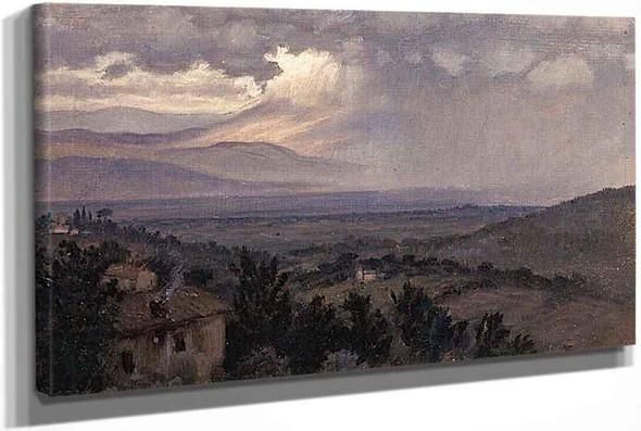 Umbrian Landscape Italy by Elihu Vedder