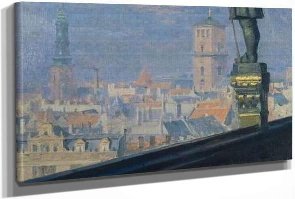 View Over Copenhagen (Sketch) by Peder Severin Kroyer