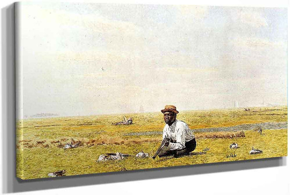 Whistling For Plover by Thomas Eakins