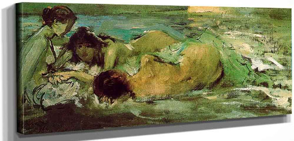 Naked Women On The Beach By Ignacio Pinazo Camarlench