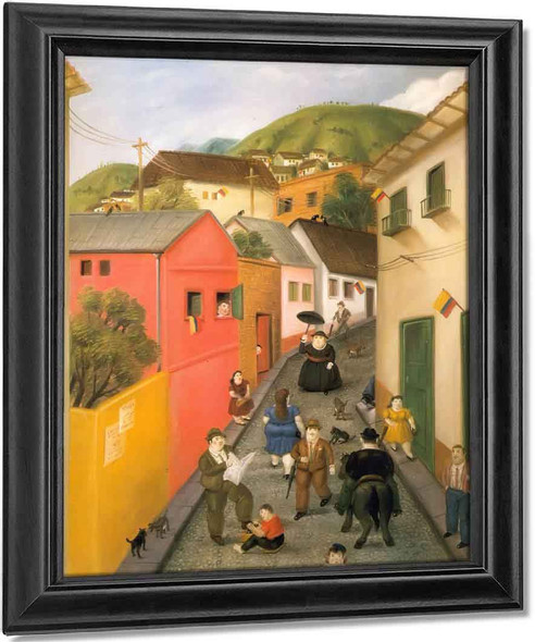 The Street by Fernando Botero