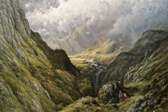 Glen Massan by Gustave Dore - Oil On Canvas Reproduction - Custom Size: 915mm x 610mm