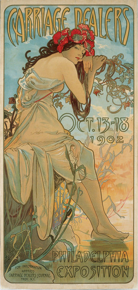 Carriage Dealers by Alphonse Maria Mucha