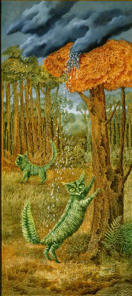 The Fern Cat By Varo Remedios by Remedio Varo