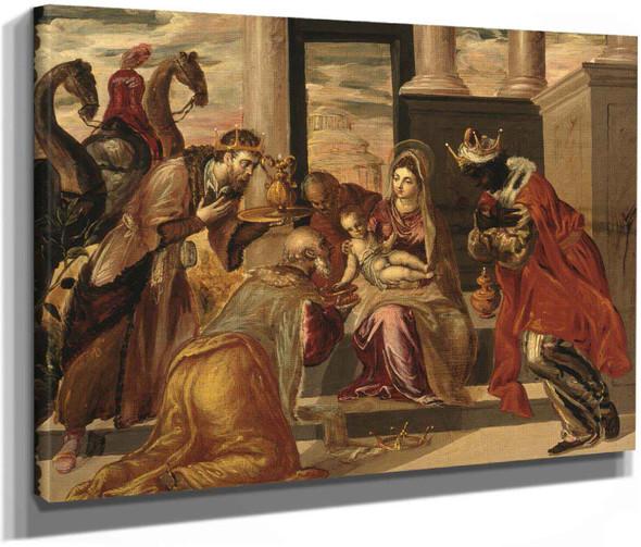 Adoration Of The Magi by El Greco