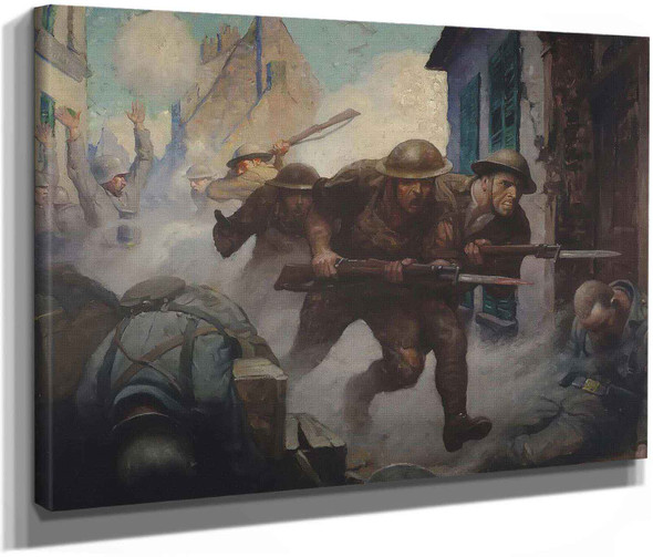 Americans At Chateur Theirry by Nc Wyeth