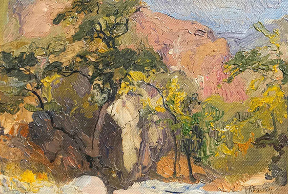 Arroyo Seco Pasadena by Franz Albert Bischoff
