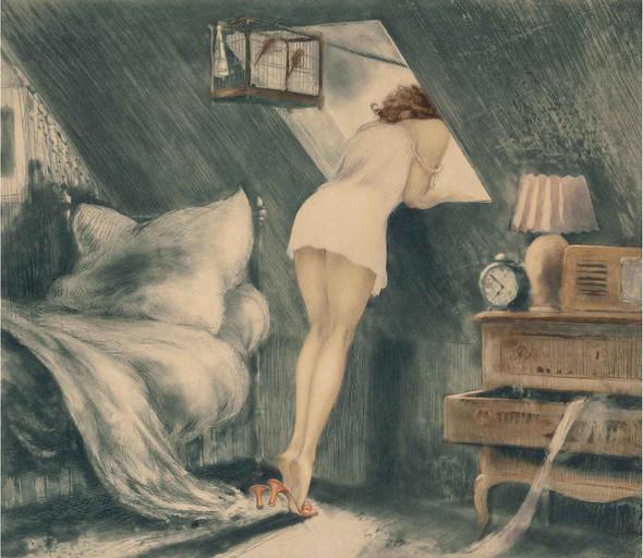 Attic Room 1940 by Louis Icart