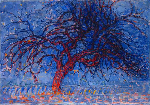 Avond Evening The Red Tree 1910 By Piet Mondrian by Peit Mondrian