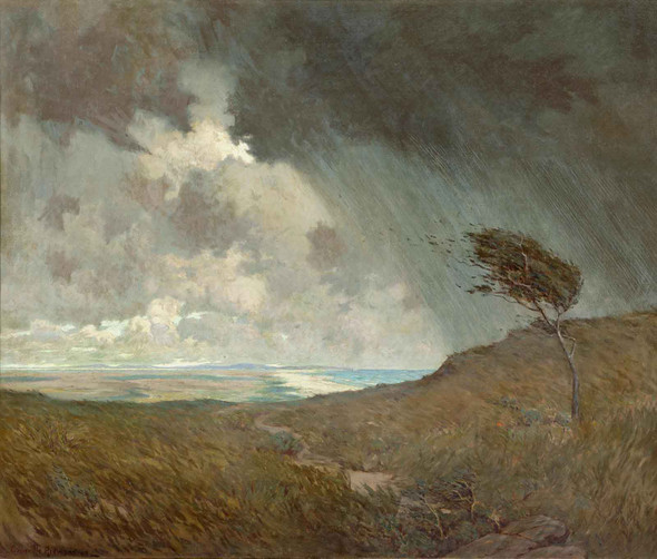 Coastal Storm by Granville Redmond