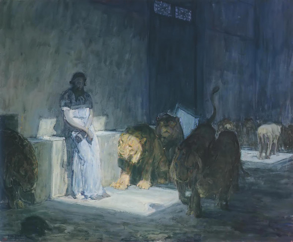 Daniel In The Lions Den by Henry Ossawa Tanner