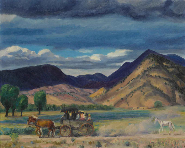 Going To Church River Chama New Mexico by John Sloan