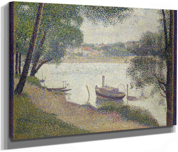 Gray Weather Grande Jatte by Georges Seurat