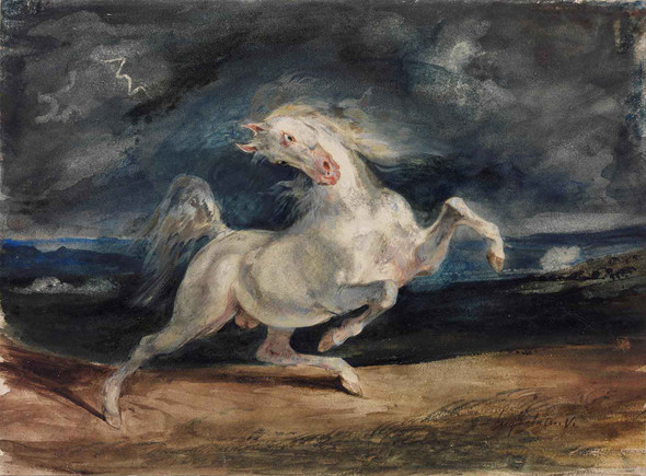 Horse Frightened By Lightning by Eugene Delacroix
