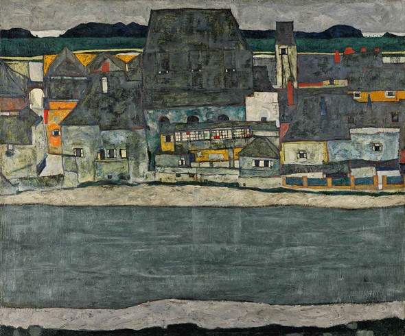 Houses On The River (The Old Town) by Egon Schiele