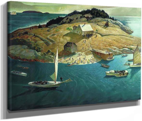 Island Funeral by Nc Wyeth