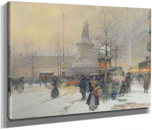 La Place De La Rèpublique Paris by Eugene Galien Laloue