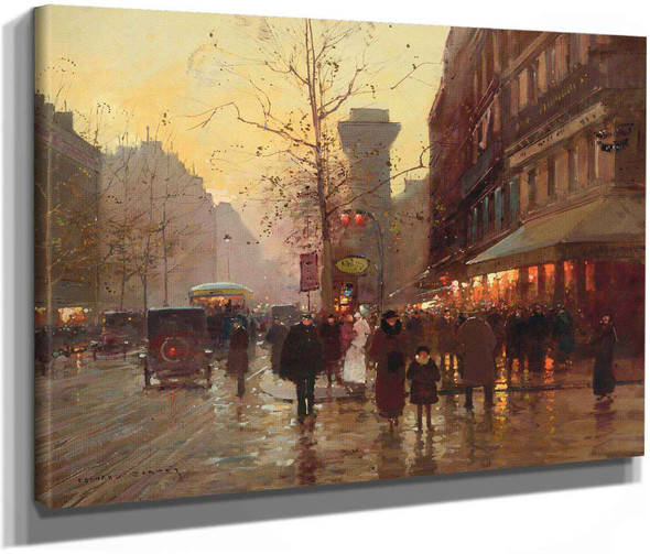 La Porte Saint Denis Paris by Edouard Leon Cortes