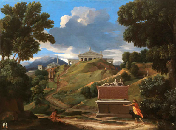 Landscape With Ruins by Nicholas Poussin