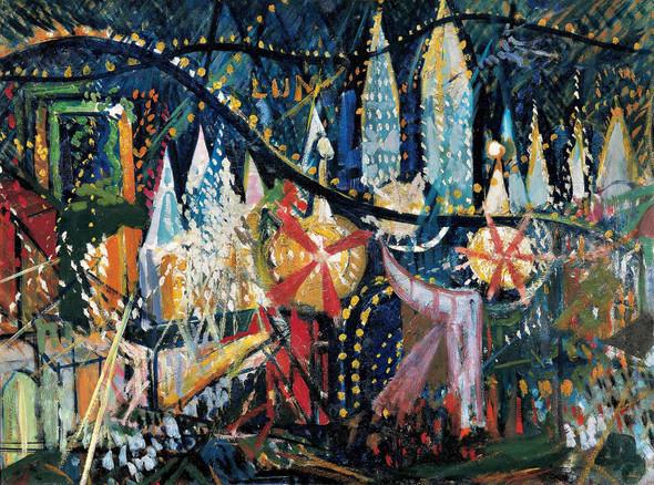 Luna Park By Joseph Stella by Joseph Stella