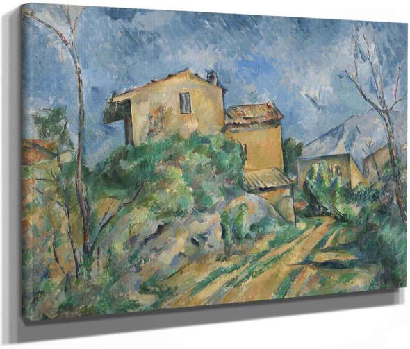 Maison Maria With A View Of Château Noir by Paul Cezanne