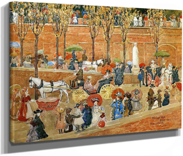 Pincian Hill Rome Also Known As Afternoon Pincian Hill 1898 Maurice Prendergast by Maurice Brazil Prendergast