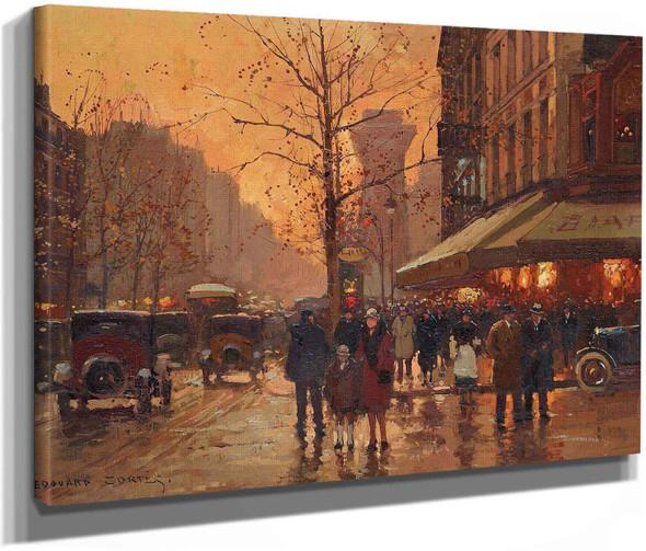 Porte Saint Denis Et Le Cafe Biard by Edouard Leon Cortes