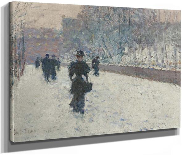 Promenade Winter New York by Childe Hassam