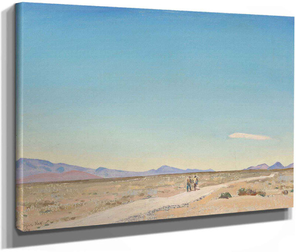 Road To Nowhere Indian Springs Nevada 1934 by Maynard Dixon