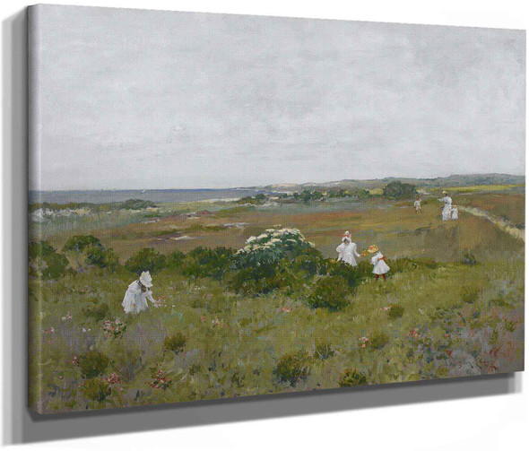 Seaside Flowers By William Merritt Chase by William Merritt Chase