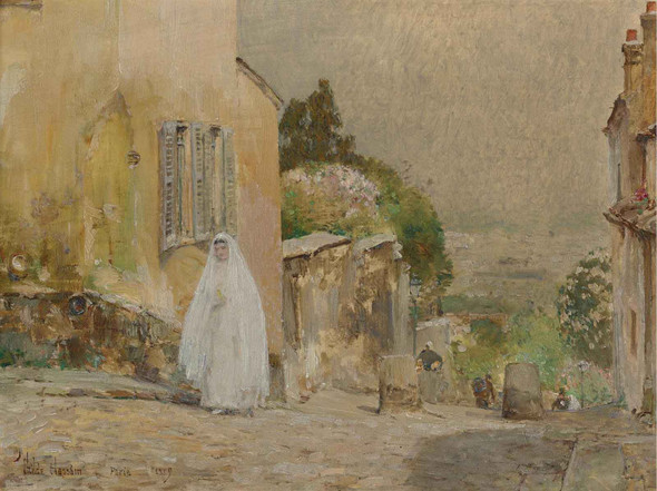 Spring Morning Rue Mt Cenis Montmartre by Childe Hassam