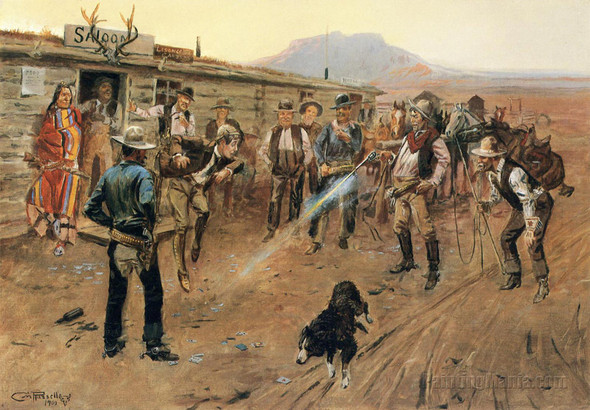Tenderfoot Russell by Charles Marion Russell