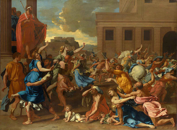 The Abduction Of The Sabine Women by Nicholas Poussin