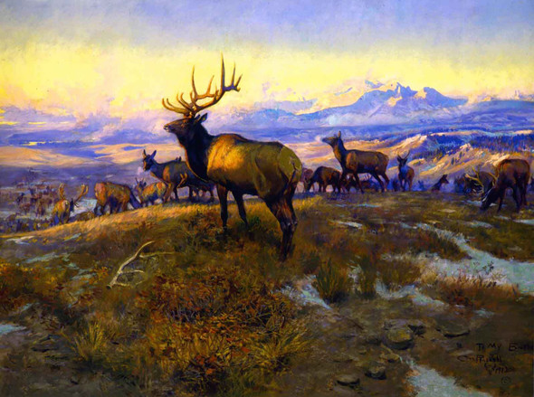 The Exalted Ruler 1912 by Charles Marion Russell