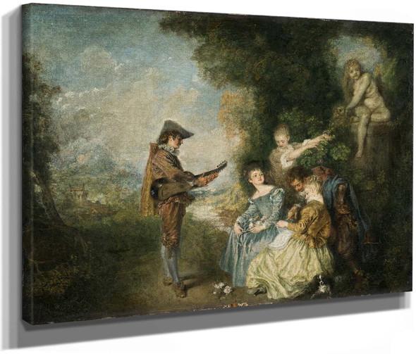 The Love Lesson by Jean Antoine Watteau